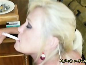 Ms Paris Rose is Santa's Smoking super-hot Helper