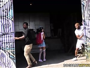 chinese Marica Hase Gives fellatio 15 naughty black dudes