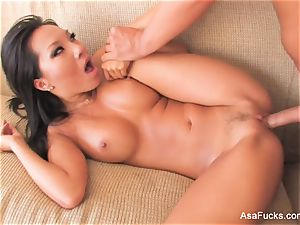super luxurious Asa Akira plows on the couch