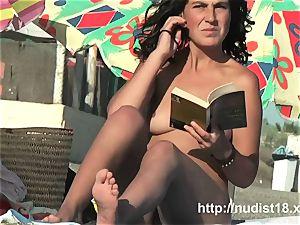 Public nudist hidden cam gets a really red-hot naturist movie