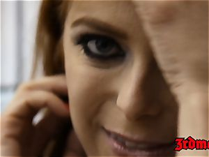red-haired succubus Penny Pax poked into squirting