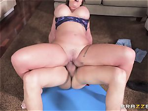 Eva Notty hungers additional cum topping from pizza fellow
