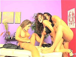 massage threesome With Capri Cavanni