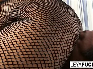 Leya Falcon demeans you and gives a blowage