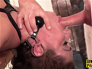 ginger-haired brit marionette butt-fucked and bound