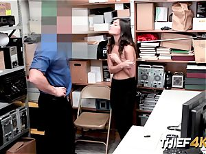 Emily s regret wont save her from a rock hard penetrating by naughty officer