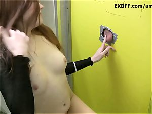 sandy-haired French honey glory fuck hole fellatios fat milky penis