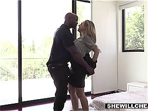 SHEWILLCHEAT - insatiable Real Estate Agent fucks big black cock