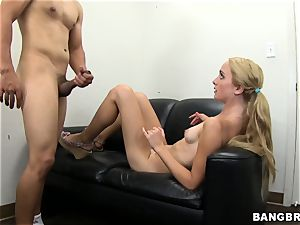ultra-cute blonde auditioning
