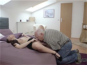 DADDY4K. parent and youthfull doll scorching fuckfest in sofa culminates with internal ejaculation