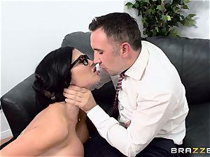 salami choking brit babe Jasmine Jae romped in her rump