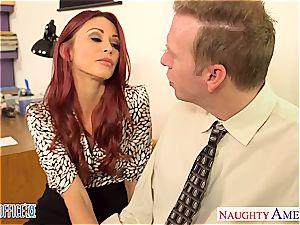 ginger-haired stunner Monique Alexander ravage in office