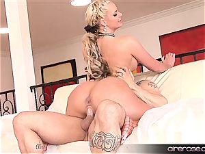 Airerose ash-blonde with bra-stuffers and caboose