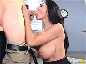 busty professor Ava Addams is pulverized by her student