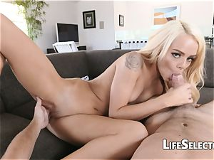 Elsa Jean - uber-cute blond with taut cunt enjoys to shag