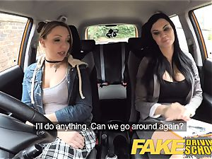 faux Driving school Daddys girl fails her test