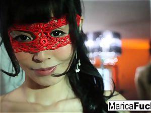 Marica Hase in fabulous lingerie wanks in the mirror