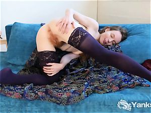 lovely Ana boning A Glass faux-cock