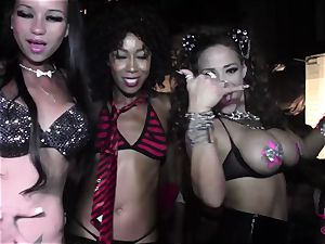 Club bitches twerking in the VIP at this nasty soiree