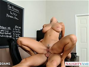 teacher in glasses Ava Addams gets massive mounds screwed