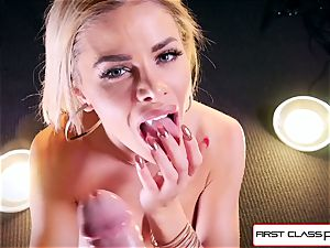 see Jessa Rhodes taking a giant pink cigar down her jaws