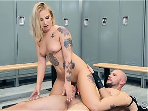 JMac digs his boner deep into super hot towheaded in locker room
