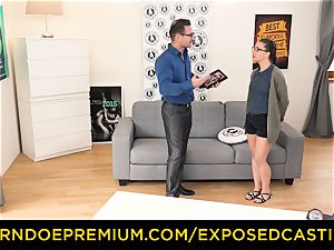 uncovered casting - cute nerdy stunner porked on casting