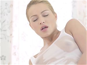 RELAXXXED - Serbian stunner gets lubed up and torn up