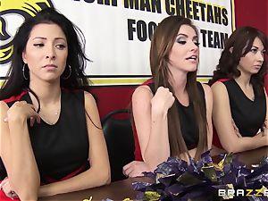 Mean cheerleaders group pummel August Ames