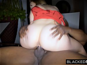 BLACKEDRAW gigantic breast white doll gets double teamed by BBCs